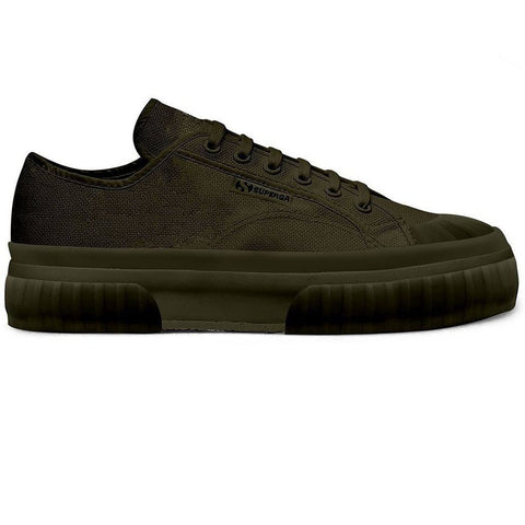 2630 Cotu Chunky Sole Trainers in Military Green Trainers Superga