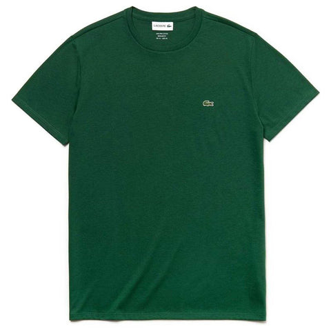 TH6709-132 Crew Neck Tee in Green T-Shirts Lacoste