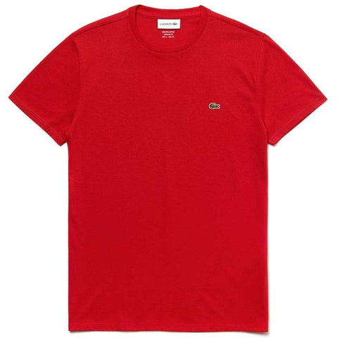 TH6709-240 Crew Neck Tee in Red T-Shirts Lacoste