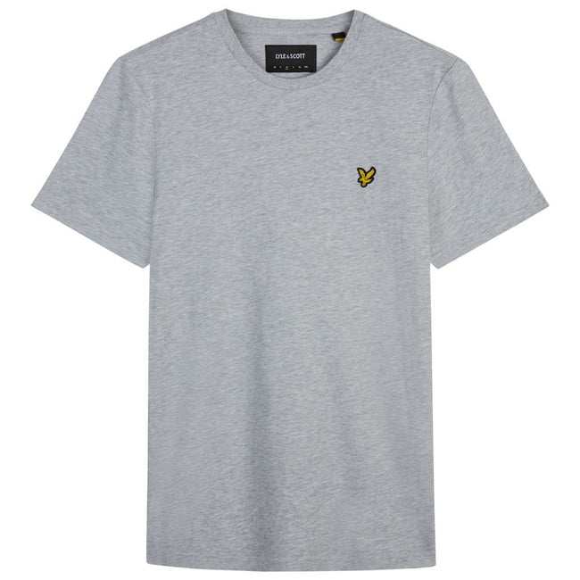 Lyle & Scott Crew Neck T-Shirt in Mid Grey Marl