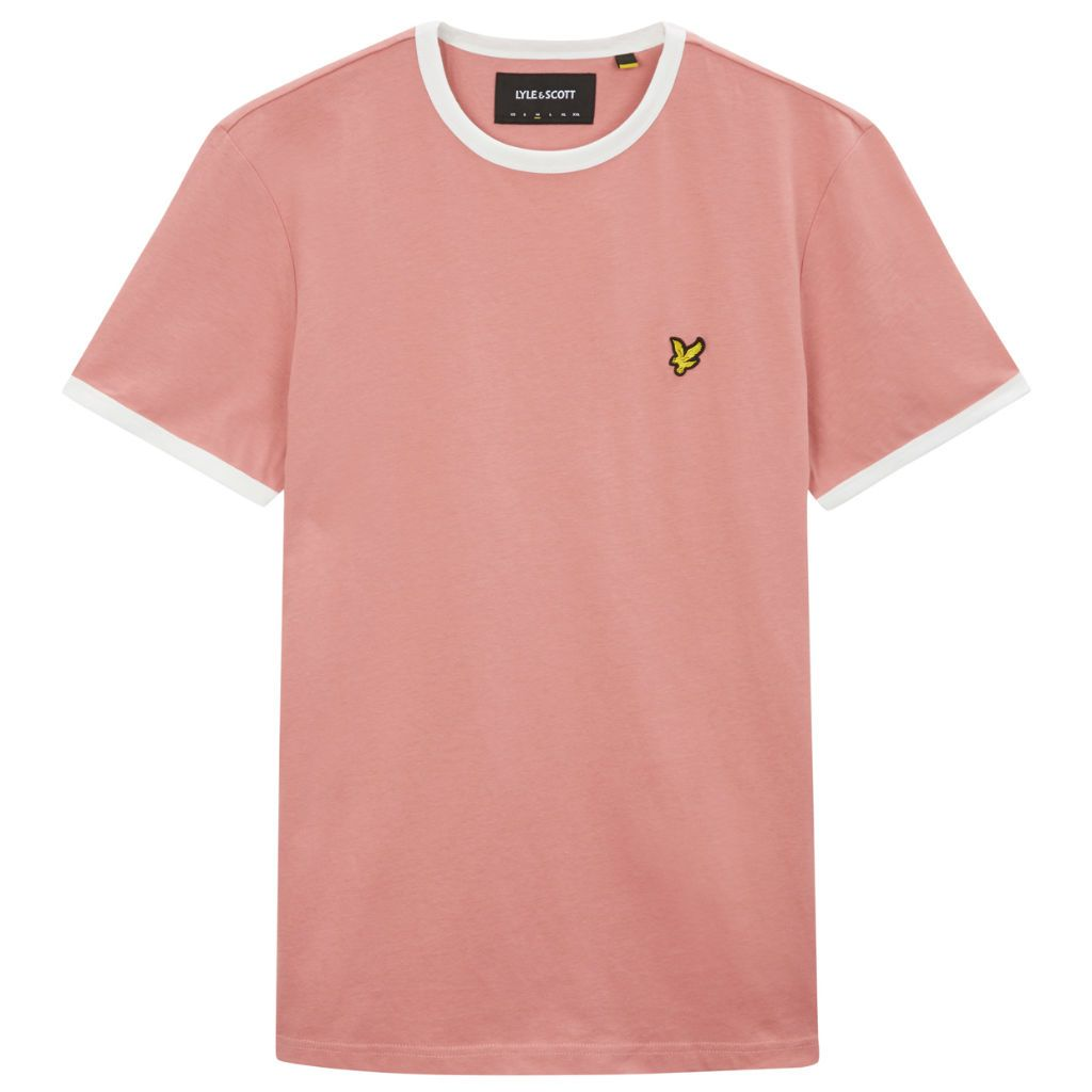 Scott In Lyleamp; Ringer Shirt T Shadowsnow Pink White QdsrthC