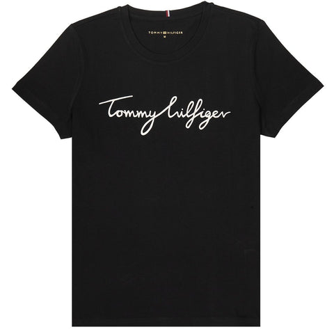Heritage Crew Neck Graphic T-Shirt in Masters Black Women's T-Shirts Tommy Hilfiger Women's