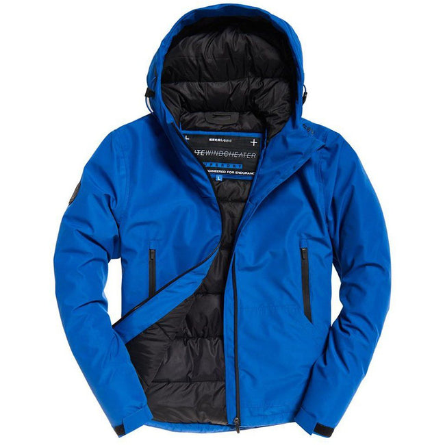 Superdry Padded Elite Windcheater in Electric Blue