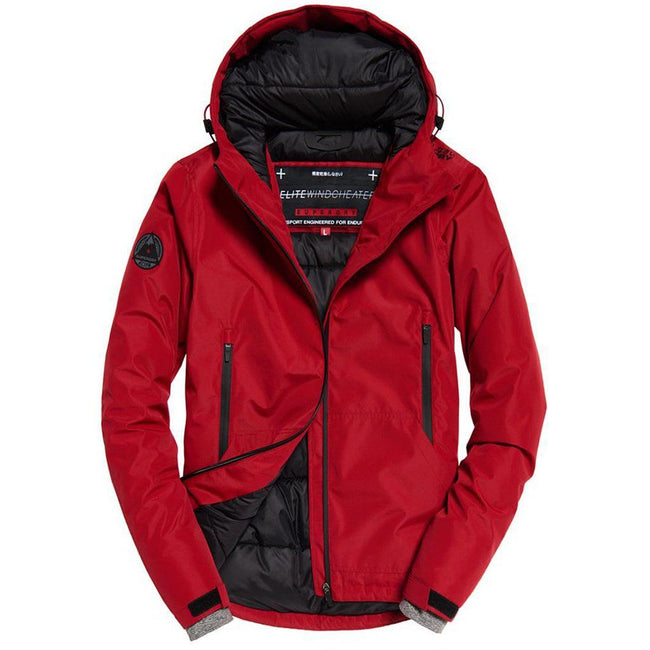 Superdry Padded Elite Windcheater Jacket in Paprika Red