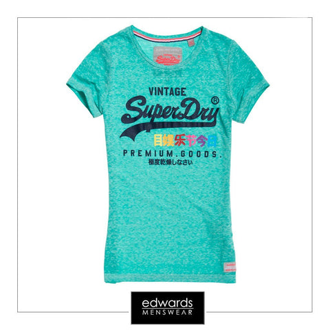 Superdry Premium Goods Burnout T-Shirt in Foam Green