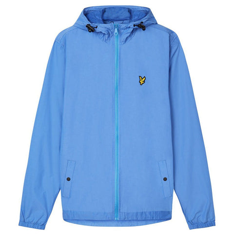 Lyle & Scott Zip Through Hooded Jacket in Cornflower Blue Coats & Jackets Lyle & Scott