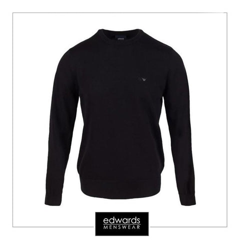 Armani Jeans Crew Neck Pullover in Black