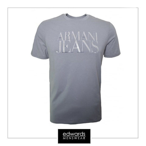 Armani Jeans T-Shirt With Logo in Grey