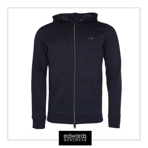 Armani Jeans Hooded Sweatshirt in Navy
