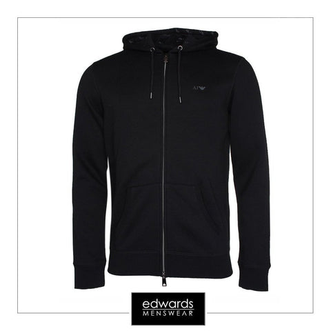 Armani Jeans Hooded Sweatshirt in Black
