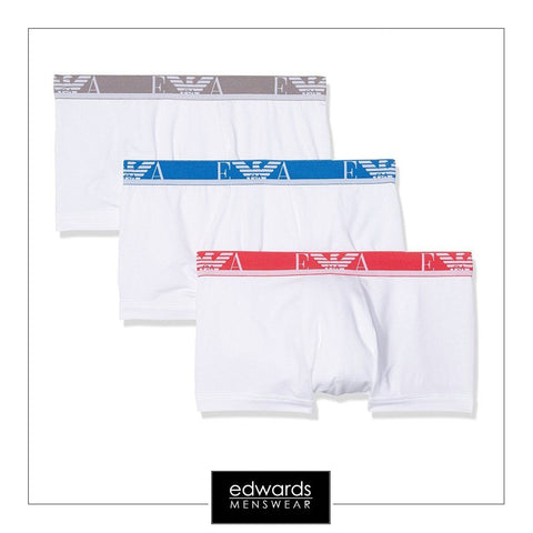 Emporio Armani 3-Pack Trunk in White