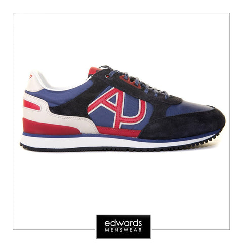 Armani Jeans Trainers in Blue & Red