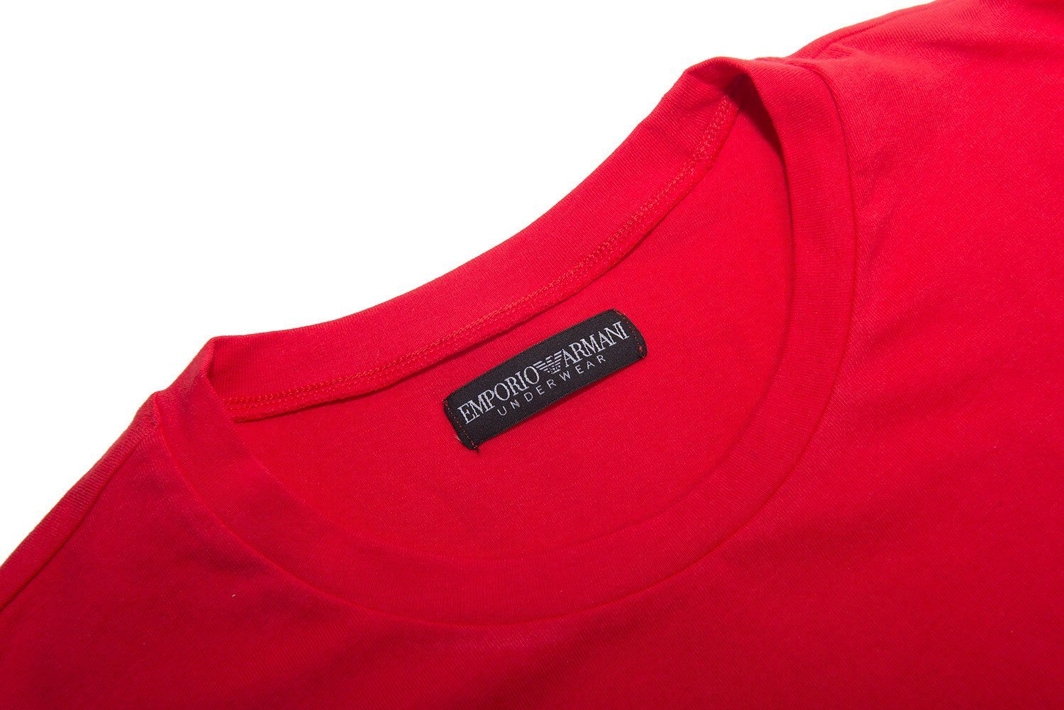 Armani Crew Neck T-Shirt in Red