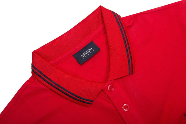ee9499211 Armani Jeans Polo Shirt in Red