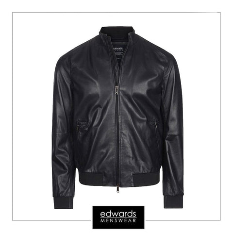 Armani Jeans Blouson Jacket in Black