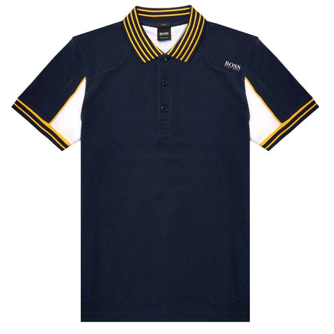 BOSS Athleisure Paule-1 Slim Fit Polo Shirt in Navy Polo Shirts BOSS