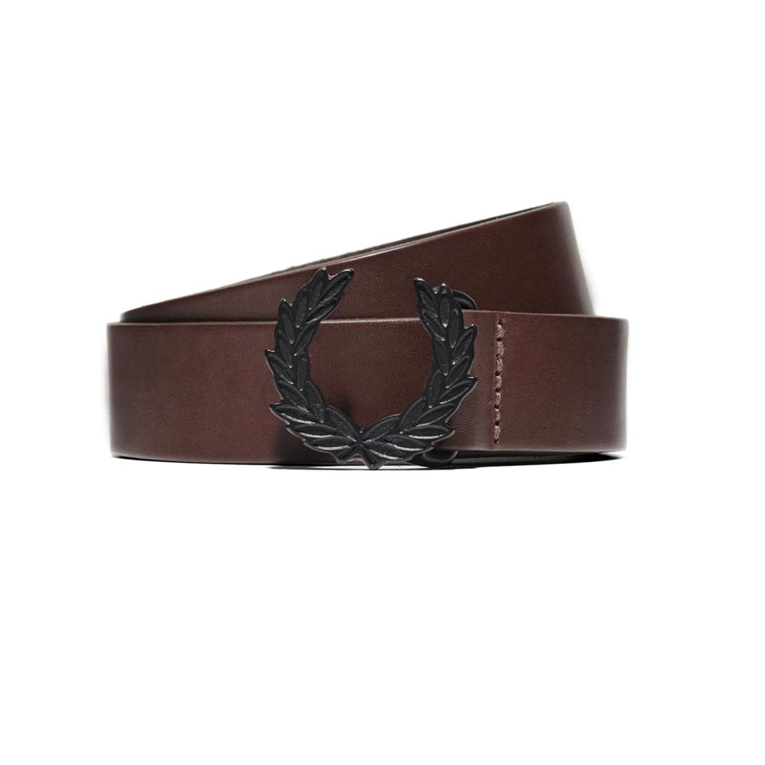 Fred Perry Laurel Wreath belt in Chocolate