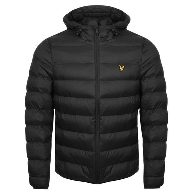Lyle & Scott Lightweight Puffer Jacket in True Black