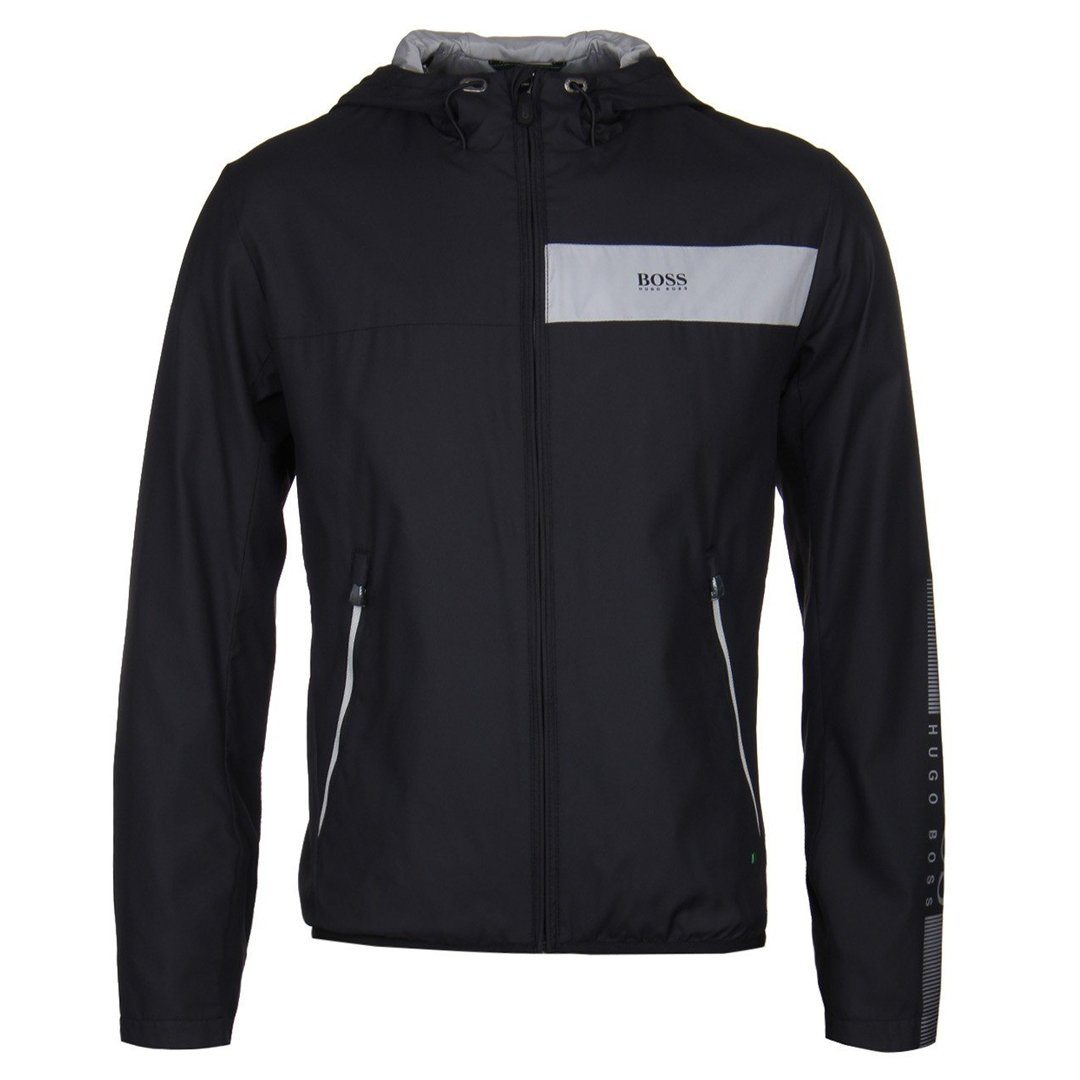 BOSS Athleisure Jeltech Water Repellent Jacket in Black
