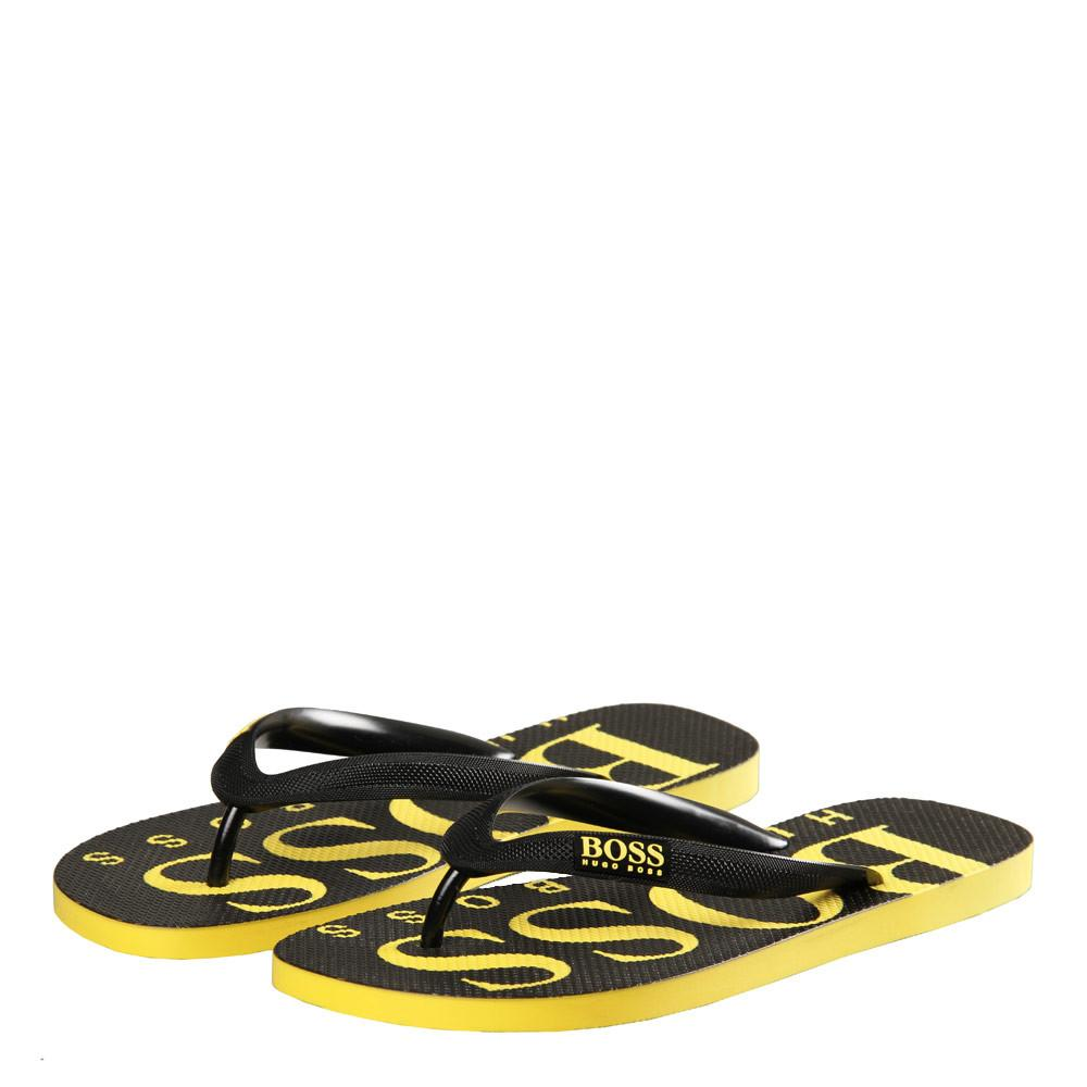 BOSS Bodywear Wave Thong Flip Flops