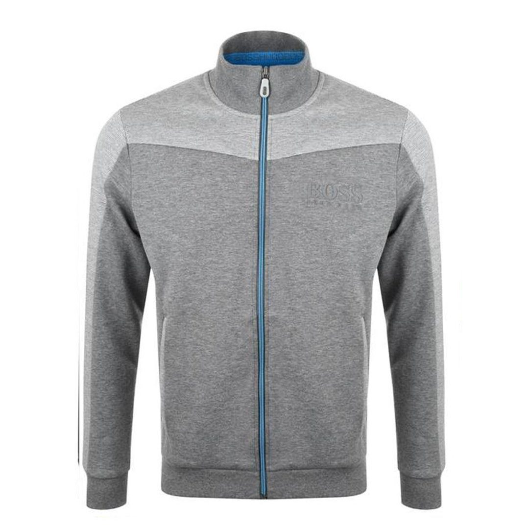 BOSS Athleisure Skaz Full Zip Sweatshirt in Medium Grey Jumpers BOSS