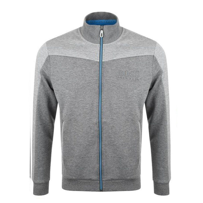 BOSS Athleisure Skaz Full Zip Sweatshirt in Medium Grey