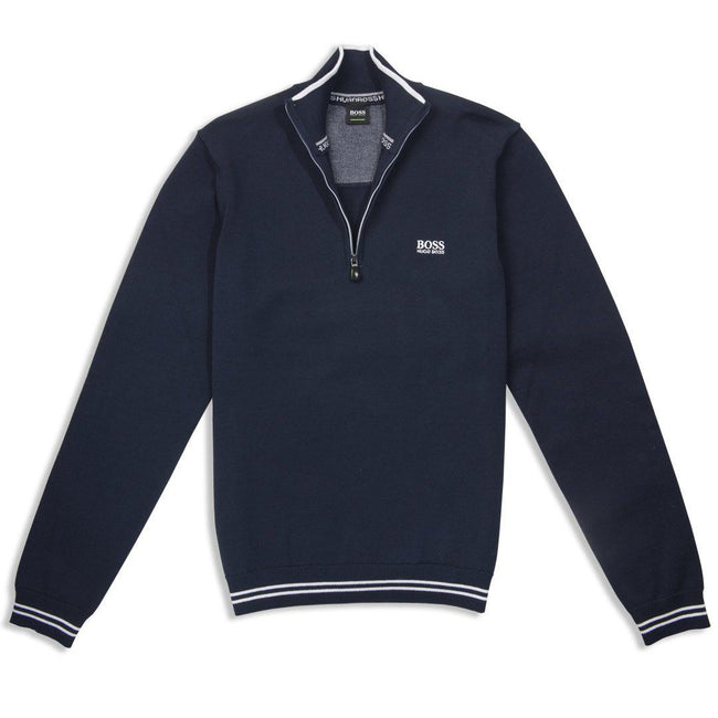 BOSS Athleisure Zimex Quarter Zip Jumper in Navy Jumpers BOSS