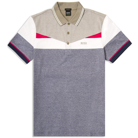 BOSS Athleisure Paddy 6 Polo Shirt in Navy / White / Khaki Polo Shirts BOSS