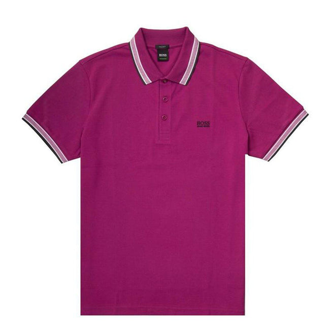 BOSS Athleisure Paddy Regular Fit Polo Shirt in Dark Megenta