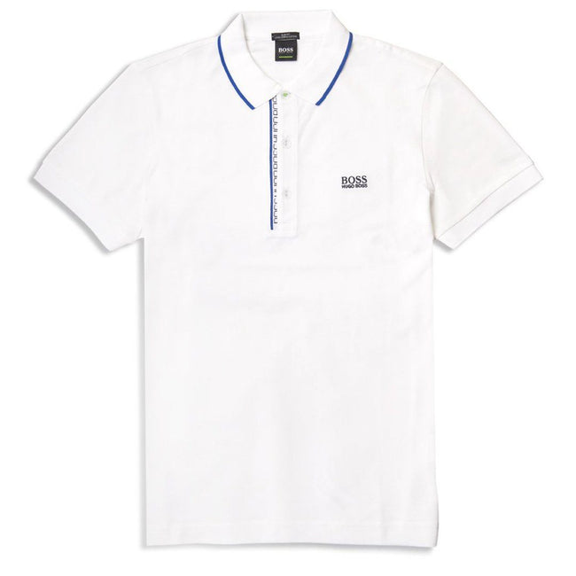 BOSS Athleisure Paule 4 Slim Fit Polo Shirt in Natural White