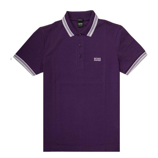 BOSS Athleisure Paddy Regular Fit Polo Shirt in Purple