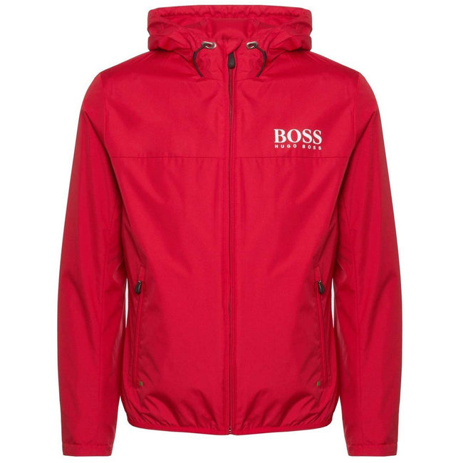 BOSS Athleisure Jeltech Water Repellent Jacket in Red