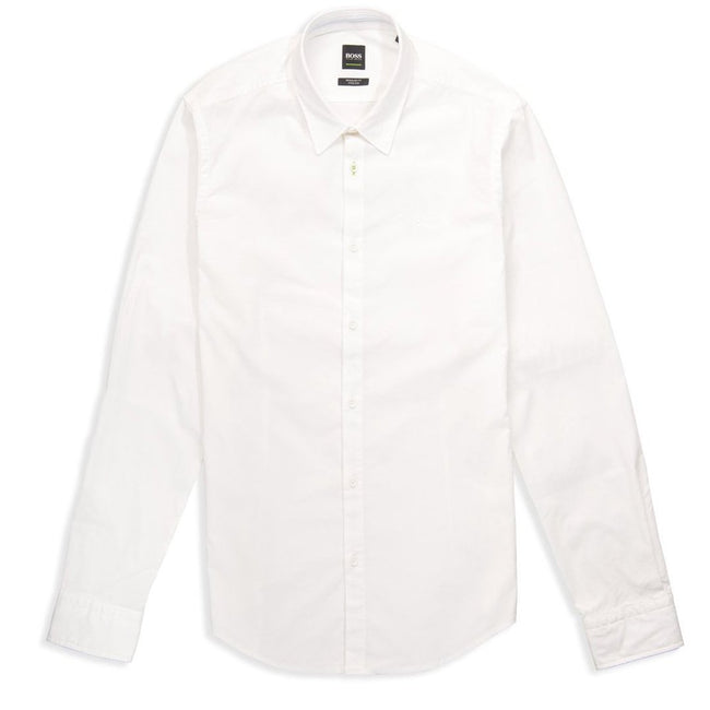BOSS Athleisure Boldo_R Long Sleeve Shirt in White
