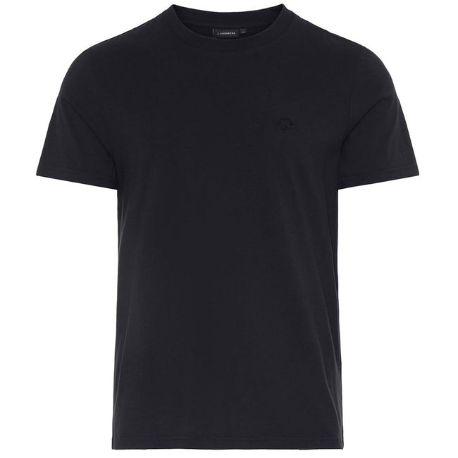 J. Lindeberg Bridge Logo Jersey Tee Shirt in Black