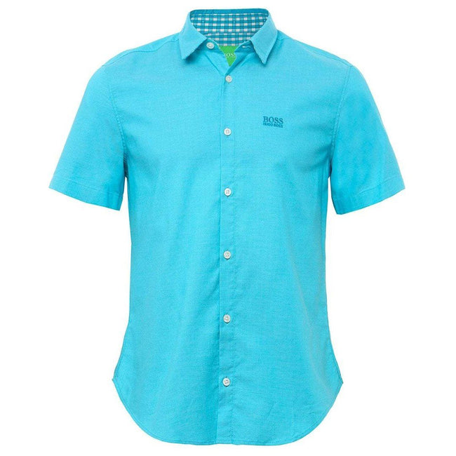 BOSS Atleisure C-Busterino Short Sleeved Shirt in Turquoise