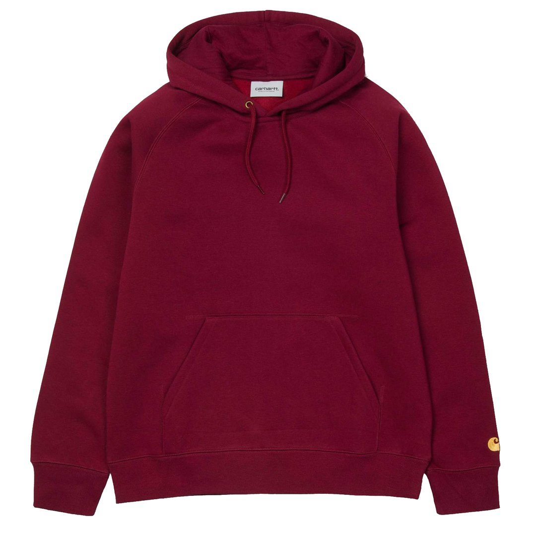 a6d6f021f Carhartt Hooded Chase Sweat in Mulberry / Gold – Edwards Menswear