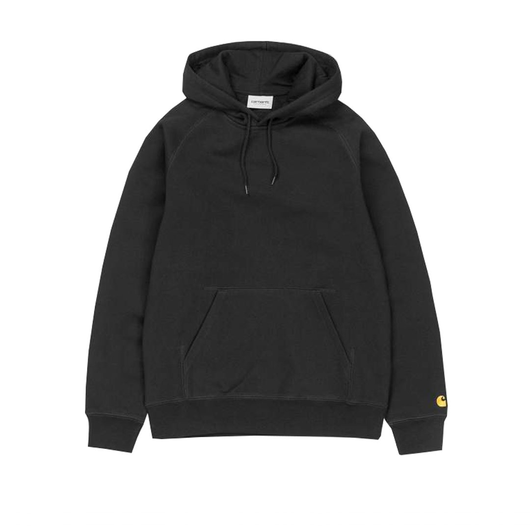 Carhartt Hooded Chase Sweat in Black / Gold