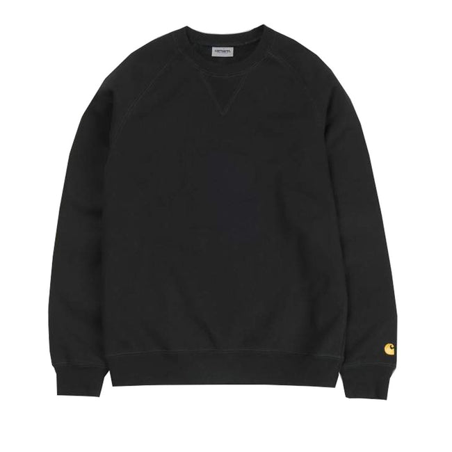 Carhartt Chase Sweatshirt in Black / Gold Jumpers Carhartt