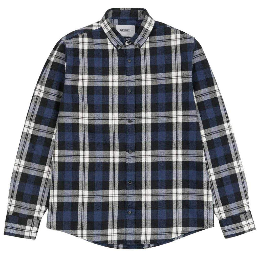 Carhartt Lessing Check Shirt in Blue
