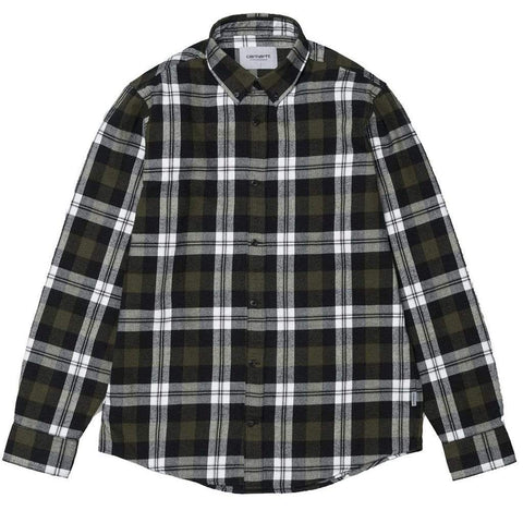 Carhartt Lessing Check Shirt in Garden Green Shirts Carhartt