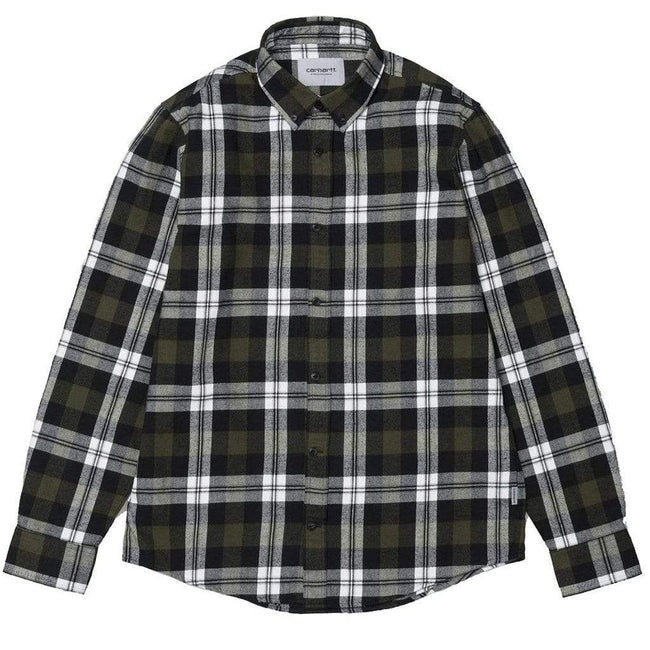 Carhartt Lessing Check Shirt in Garden Green