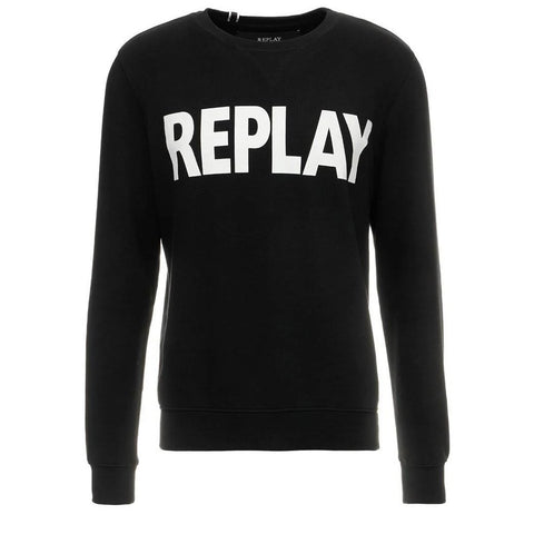 Sweater in Black sweatshirt Replay