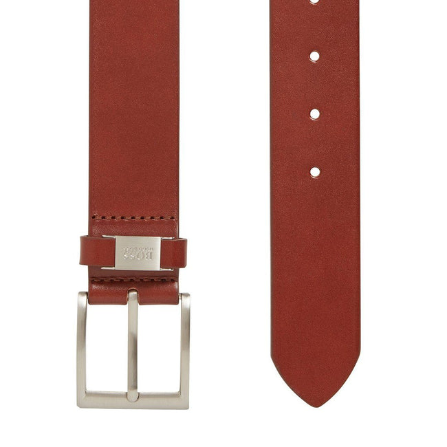BOSS Athleisure Connio Leather Belt in Brown Belts BOSS