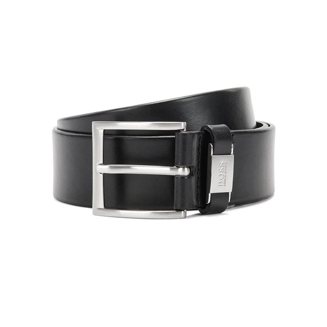 BOSS Athleisure Connio Leather Belt in Black