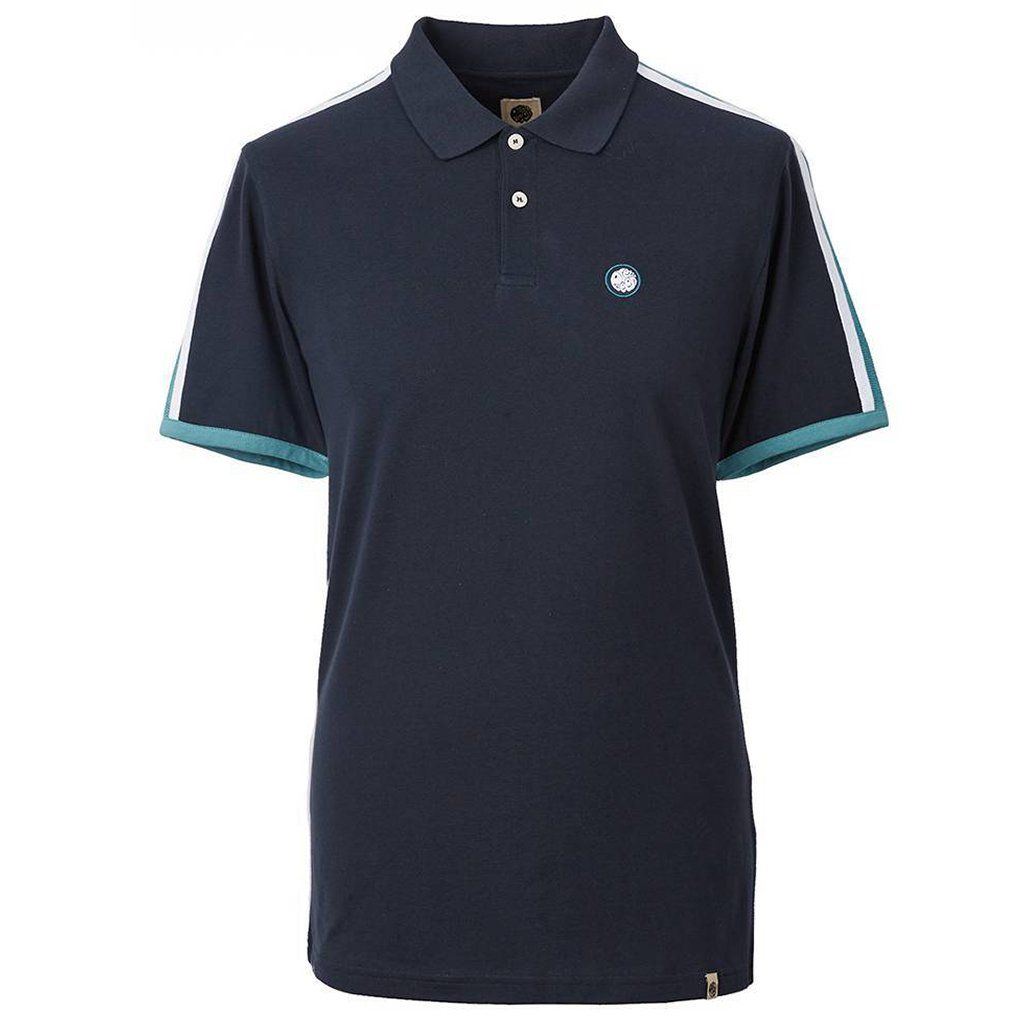 Pretty Green Contrast Panel Polo in Navy