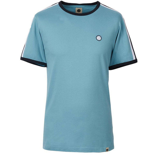 Pretty Green Contrast Panel Tee in Blue