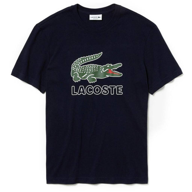 Lacoste TH6386-166 Crocodile Graphic T-Shirt in Navy