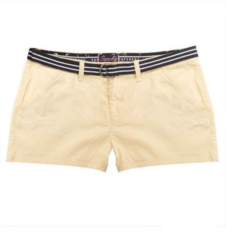 Ladies Superdry International Hot Short in Pastel Lemon Shorts Ladies Superdry