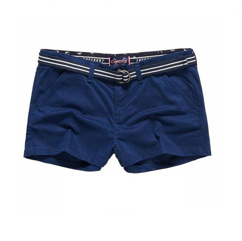 Ladies Superdry International Hot Short in Navy Shorts Ladies Superdry