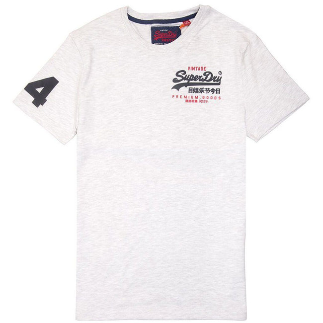 Superdry Premium Goods Duo Essential T-Shirt in Ice Marl T-Shirts Superdry